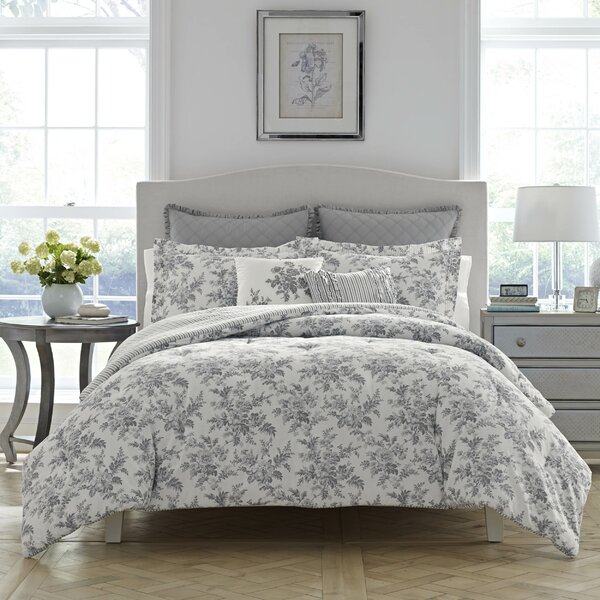 Annalise 100% Cotton Reversible Comforter Set by L